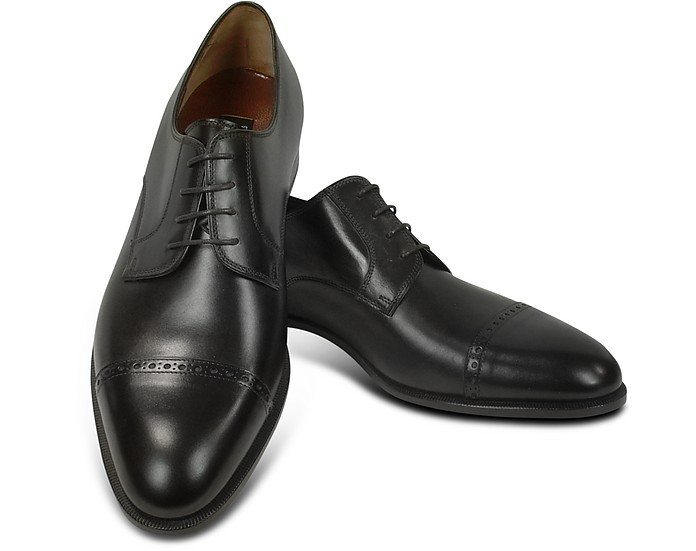 huge selection of c1441 10bd8 Scarpa Uomo Nera in Nappa Modello Oxford