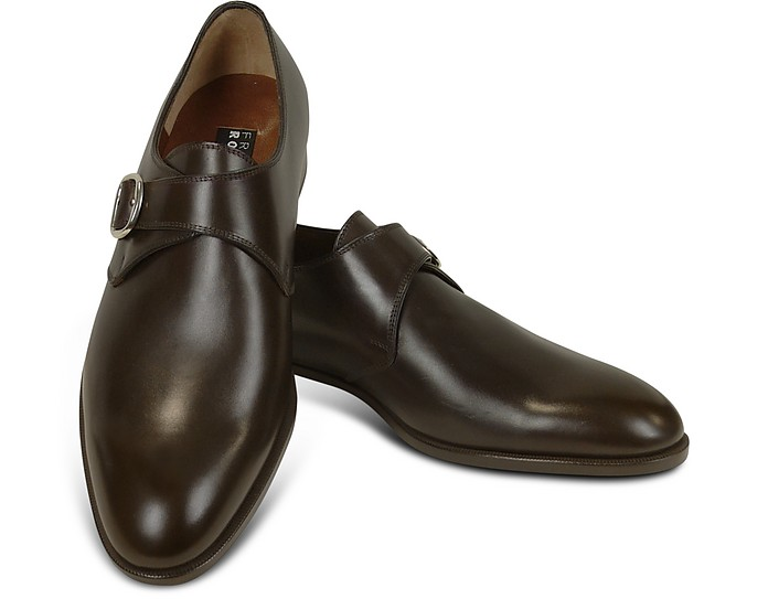 Monk Strap Schuhe aus Leder dunkelbraun  - Fratelli Rossetti