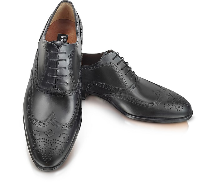Anilcalf - Black Leather Oxford - Fratelli Rossetti