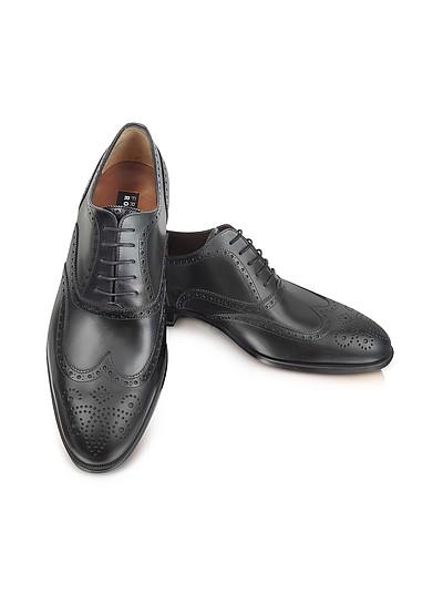 Anilcalf - Black Leather Oxford - Fratelli Rossetti