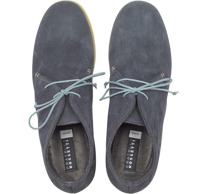 Dublin Blue Suede Ankle Boots