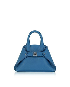 Royal Blue Leather Micro Ai Messenger Bag - Akris
