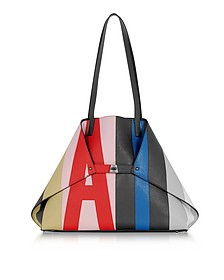 Colorblock Leather Ai Medium Tote Bag - Akris