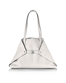 Ai Small White Leather Tote Bag - Akris