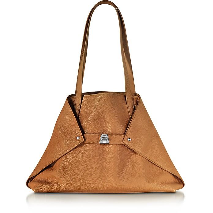Ai Small Cuoio Leather Tote Bag - Akris