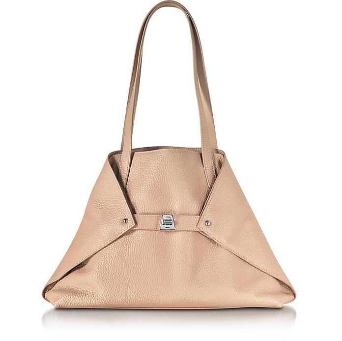 Ai Small Pale Rose Leather Tote Bag - Akris