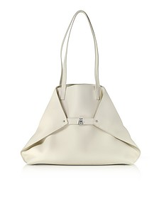 Ecru Cervocalf Ai Medium Shoulder Bag - Akris