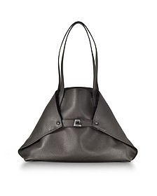 Mocca Brown Cervocalf Ai Small Shoulder Bag - Akris