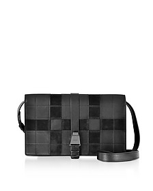 XXS Alice Black Leather and Suede Shoulder Bag - Akris