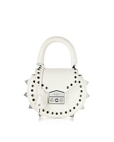 Mimi Ring Studded Leather Shoulder Bag - Salar