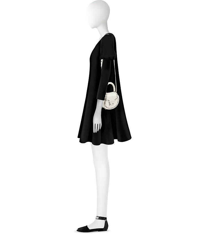 Mimi Ring Studded Leather Shoulder Bag Salar Cipria 7QLw6Wv8Zk