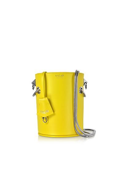 Celia Leather Bucket Bag - Salar