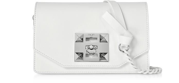 Kio Chain Leather Shoulder Bag - Salar