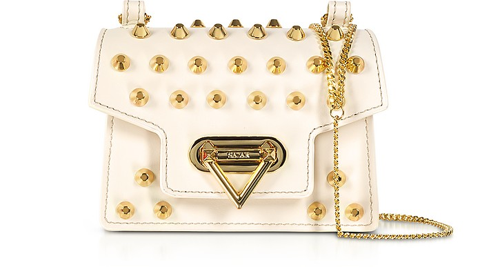 Bebe Studs Leather Mini Shoulder Bag - Salar