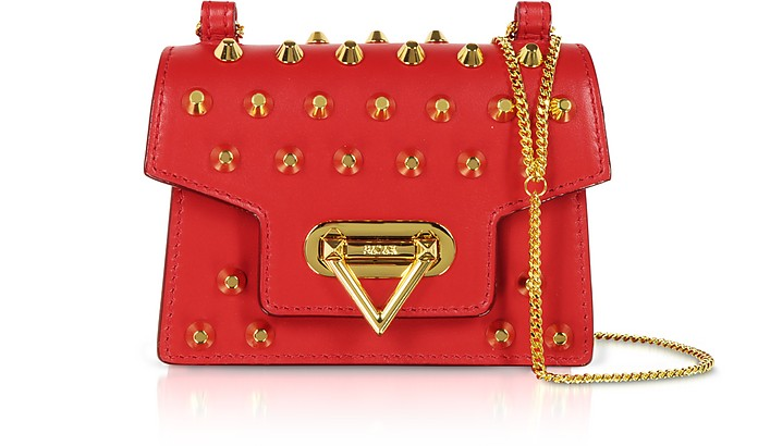 Bebe Studs Leather Shoulder Bag - Salar