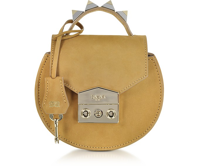 Carol Cognac Nubuck Mini Shoulder Bag - Salar