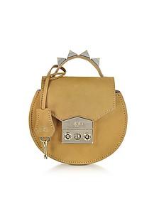 Carol Cognac Nubuck Mini Shoulder Bag - Salar