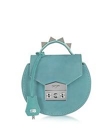 Carol Sea Green Nubuck Mini Shoulder Bag - Salar
