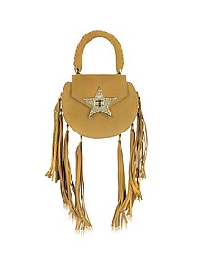 Mimi Fringe Cognac Nubuck Shoulder Bag w/Star - Salar