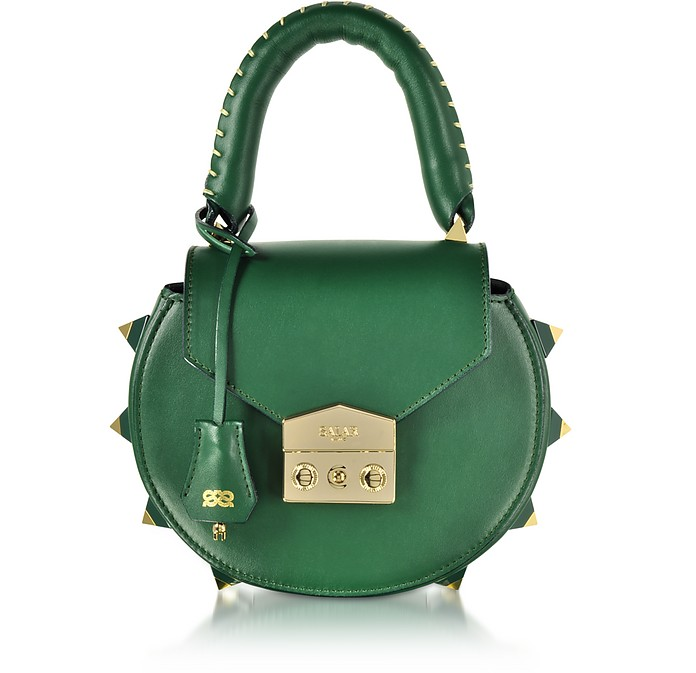 Mimi Green Leather Shoulder Bag - Salar