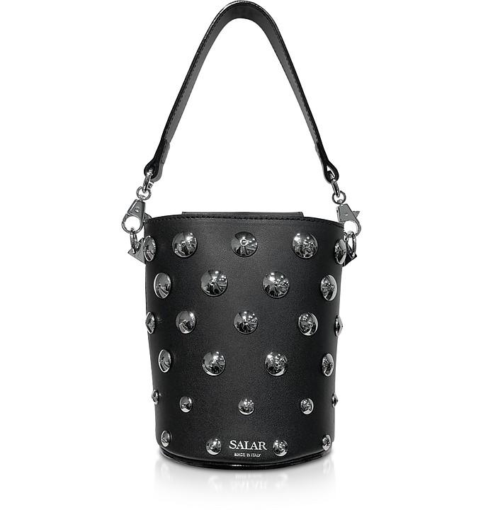 Black Celia Moon Bucket Bag - Salar