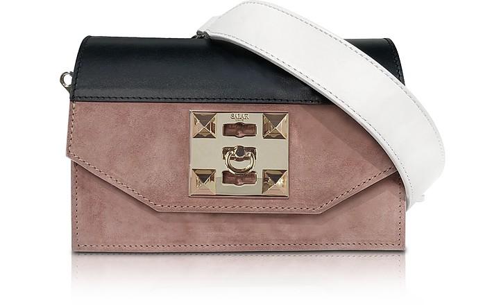 Kio Color Block Leather Shoulder Bag - Salar
