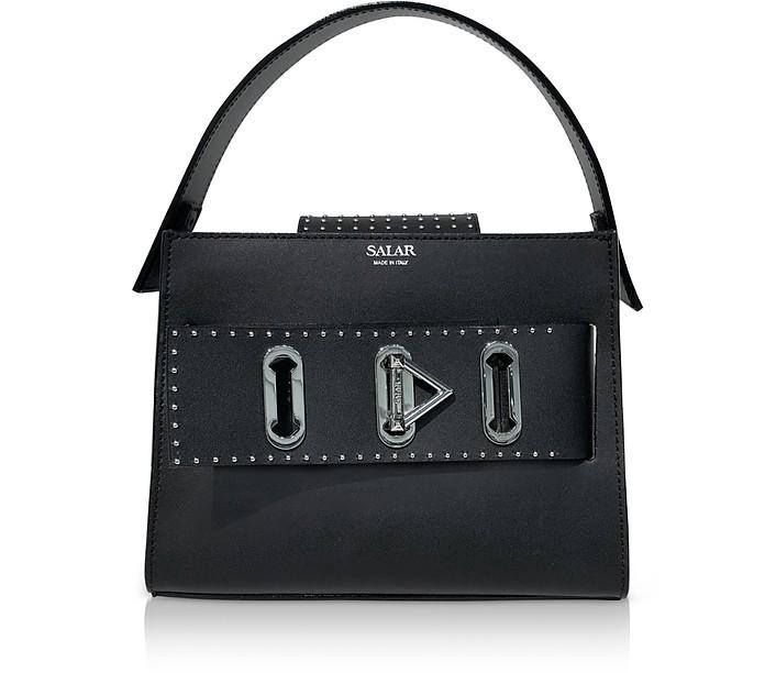 Ludo Dots Leather Satchel Bag - Salar / サラール