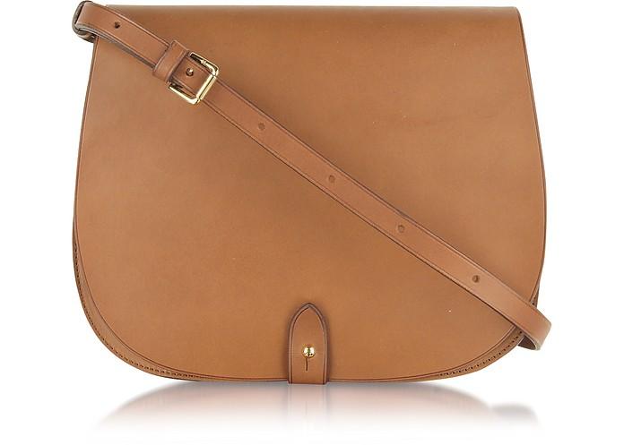 Ralph Lauren Collection Saddle Medium Leather Shoulder Bag at FORZIERI e84e1ad86a7e6