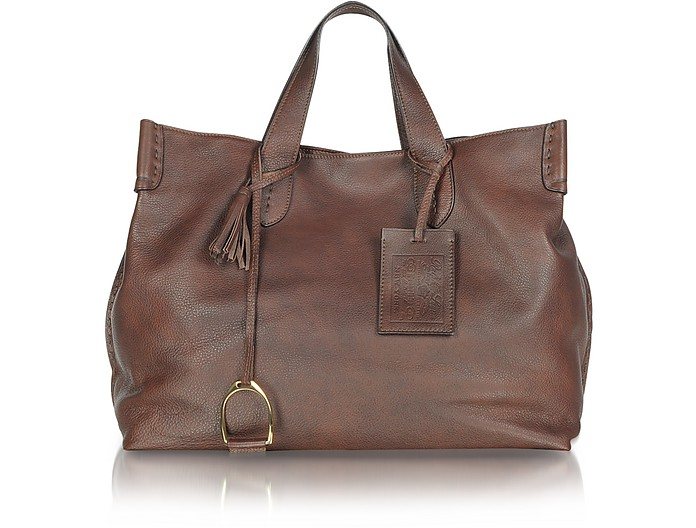 Saddle - Borsa in Pelle Marrone - Ralph Lauren Collection