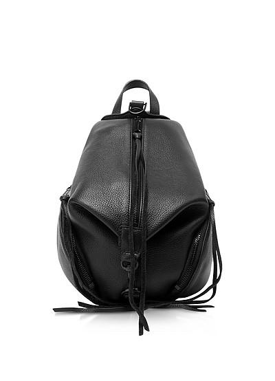 Black Leather Convertible Mini Julian Backpack - Rebecca Minkoff
