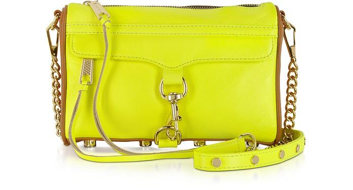 Mini M.A.C. Color-Block Leather Clutch w/Shoulder Strap - Rebecca Minkoff