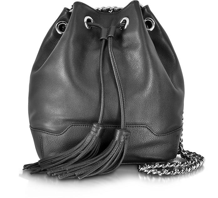 Black Leather Lexi Bucket Tote - Rebecca Minkoff
