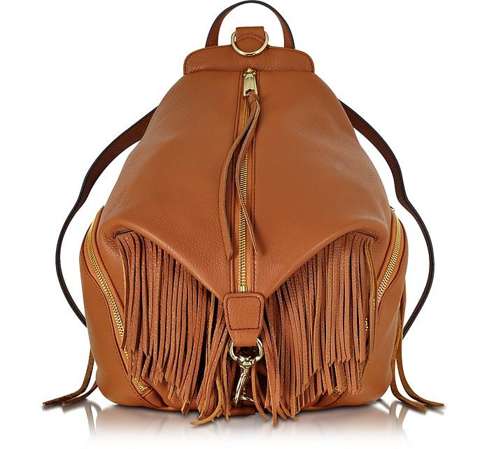 Almond Leather Fringe Julian Backpack - Rebecca Minkoff