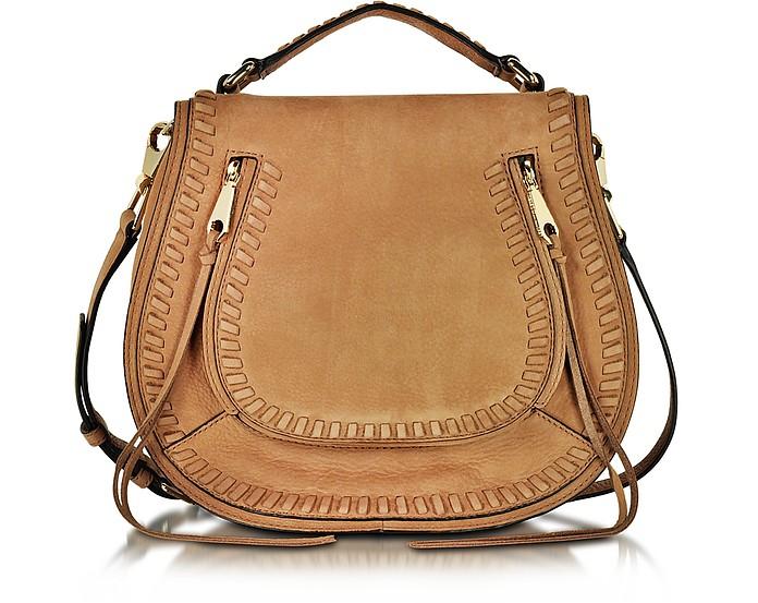 Vanity Almond Leather Saddle Bag - Rebecca Minkoff