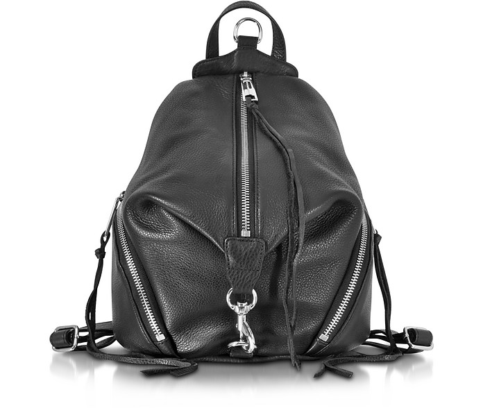 Julian Black Leather Small Backpack - Rebecca Minkoff