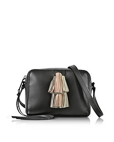 Black Leather Mini Sofia Crossbody Bag w/Metallic Tassels - Rebecca Minkoff
