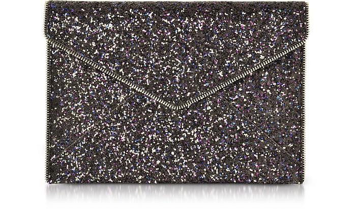Glitter Leo Envelope Clutch - Rebecca Minkoff