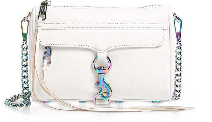 Bianco Mini MAC Clutch/Shoudler Bag - Rebecca Minkoff