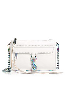 Bianco Mini MAC Clutch/Shoudler Bag - Rebecca Minkoff
