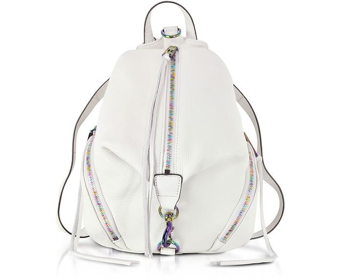 Bianco Leather Medium Julian Backpack - Rebecca Minkoff