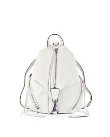 Bianco Leather Medium Julian Backpack - Rebecca Minkoff