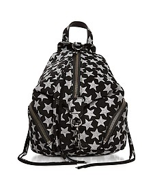 Black Leather Convertible Mini Julian Backpack w/Stars - Rebecca Minkoff