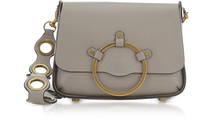 Taupe Leather Ring Shoulder Bag - Rebecca Minkoff