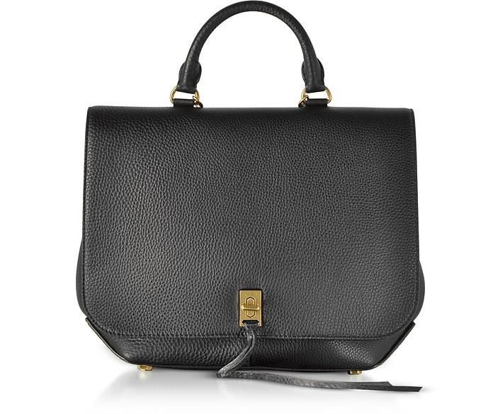 Black Leather Darren Convertible Backpack - Rebecca Minkoff