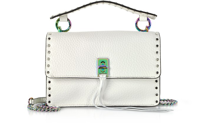 Bianco Leather Darren Top Handle Flap Crossbody - Rebecca Minkoff