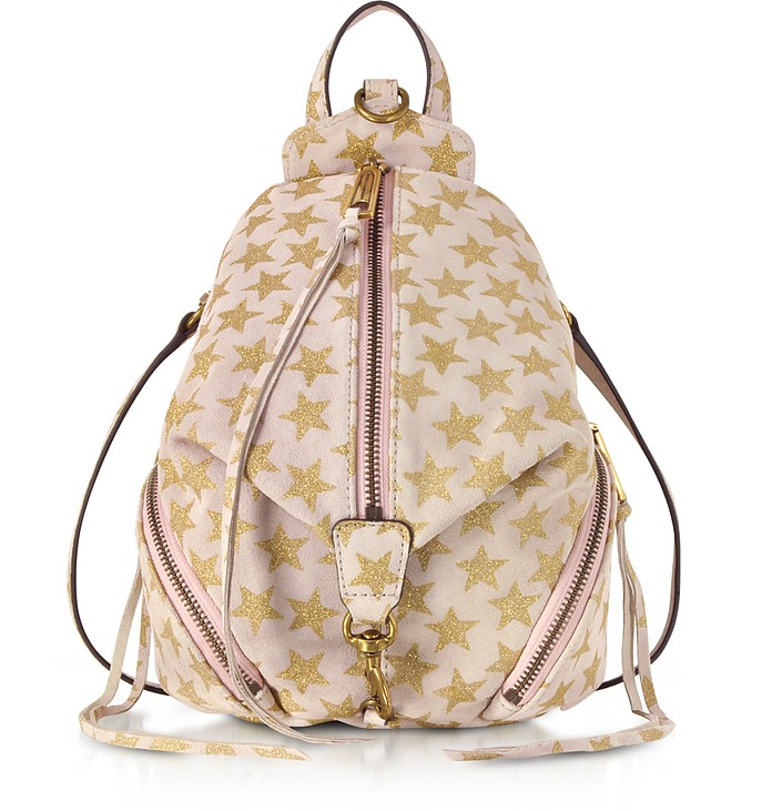 Nude Leather Convertible Mini Julian Backpack w/Stars - Rebecca Minkoff