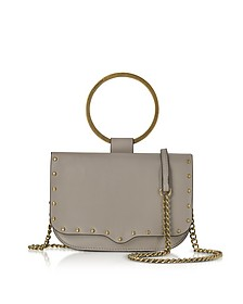 Taupe Leather Ring Crossbody Bag - Rebecca Minkoff