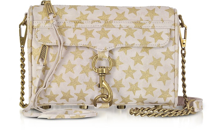 Nude and Golden Stars Mini MAC Clutch/Shoudler Bag - Rebecca Minkoff