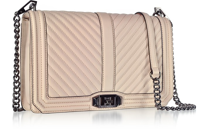 a1f319a5577c3 Nude Chevron Quilted Leather Slim Love Crossbody Bag - Rebecca Minkoff.  Sold Out