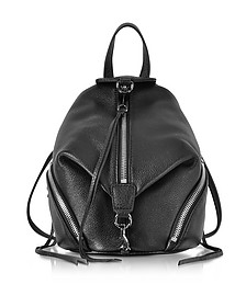 Black Leather Convertible Mini Julian Backpack - Rebecca Minkoff